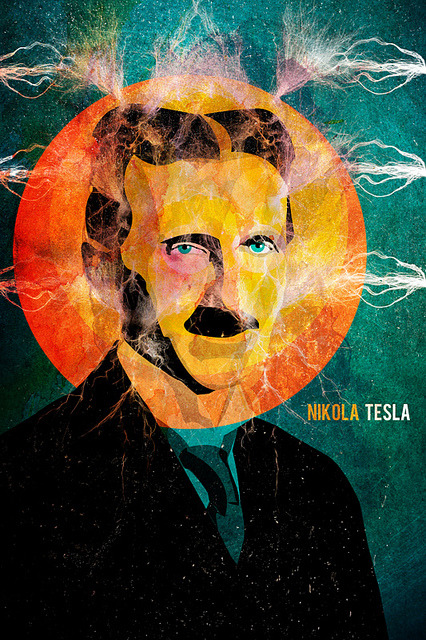 Happy 156th Birthday Nikola Tesla (b. July 10, 1856)  illustration by Alvaro Tapia Hidalgo :: via alvarotapia