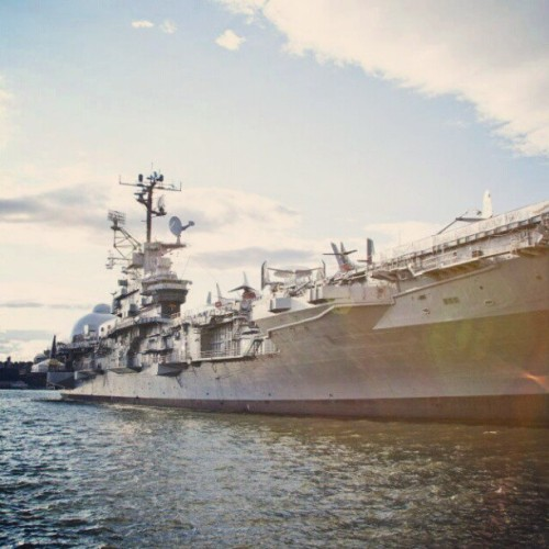 Reason #70 we love NYC: The Intrepid. #newyork (Taken with Instagram)
