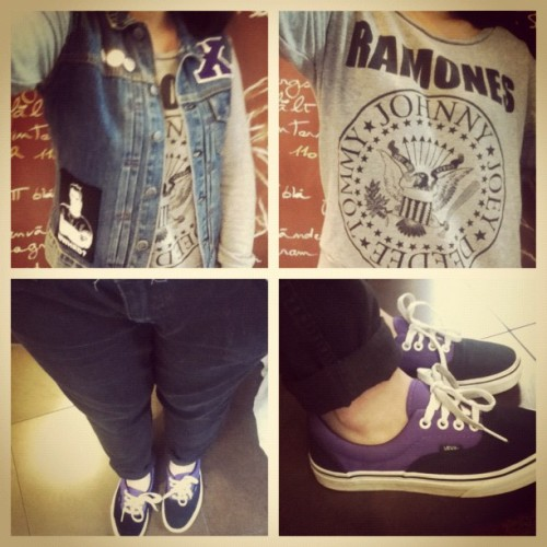 #outfit of the day. #whatiwore #whatiworetoday #shoes #vans #clothes #ramones #Straightedge #sxe (Taken with Instagram)