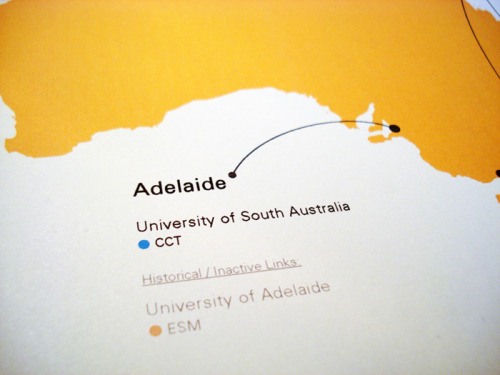 University Institutional Links with Australia Diagram Map 2