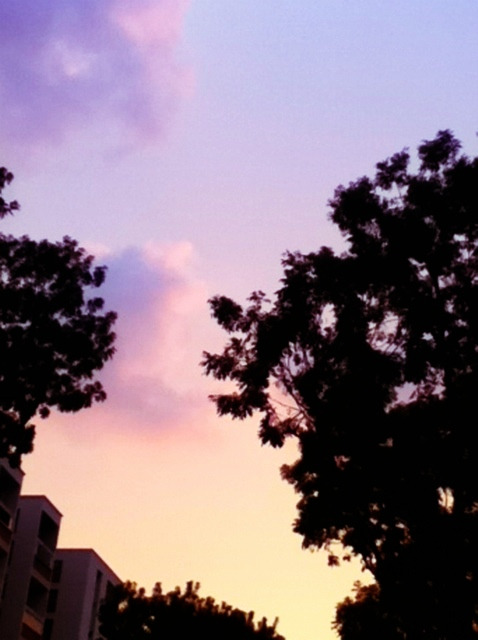 Pastel dusk at Serangoon.