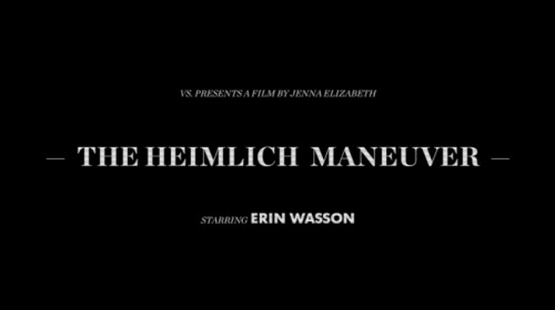 Just in time for the long weekend. Watch and learn from Erin Wasson in The Heimlich Maneuver.