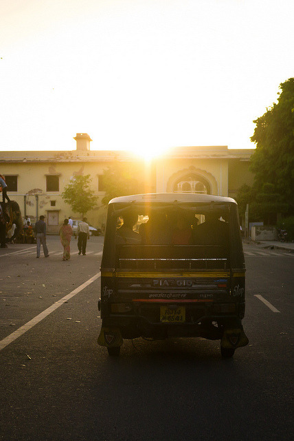 photosbycalvin:  Sunset Tuk Tuk Jaipur, India