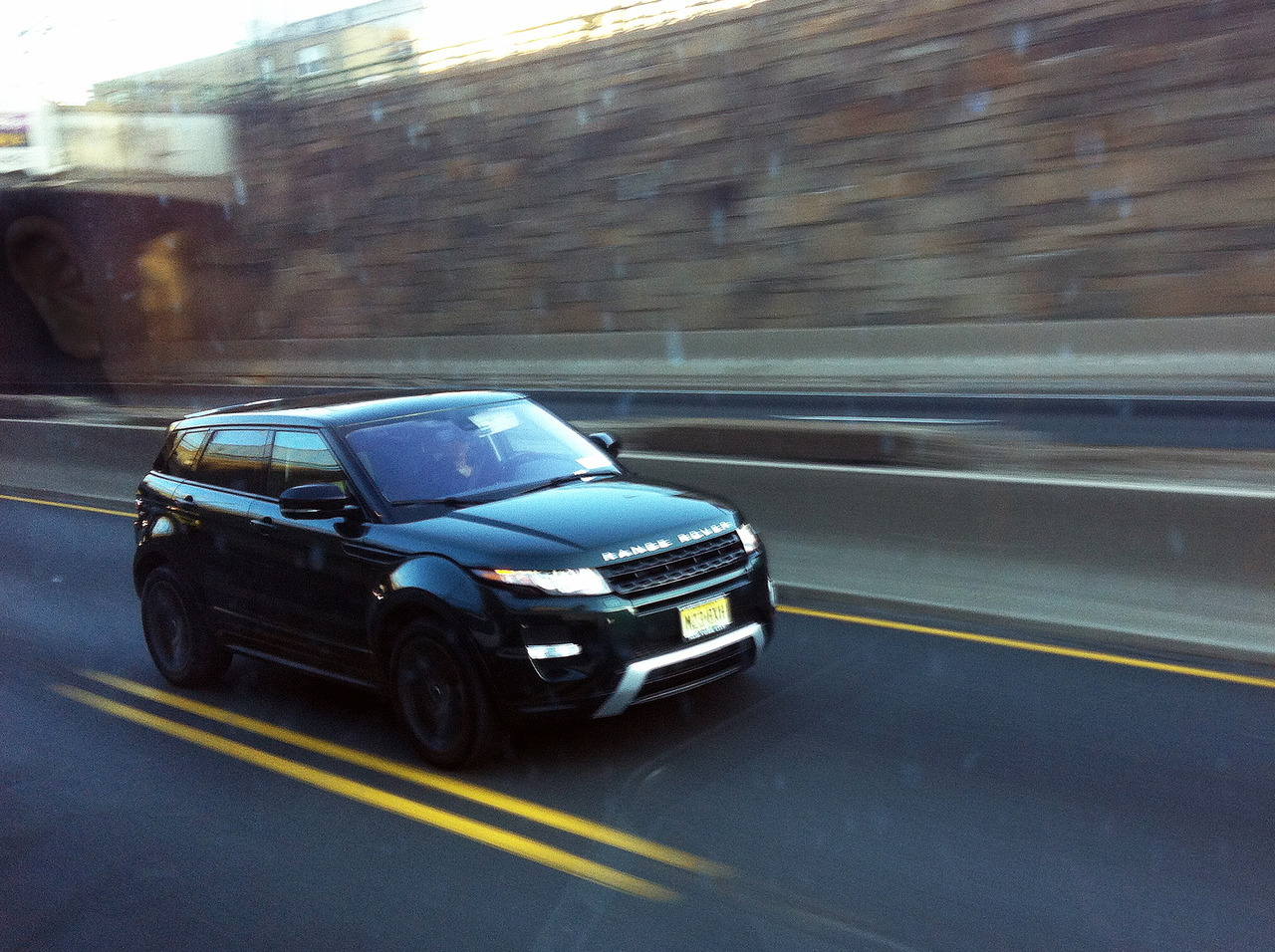 Evoque I spotted from the bus on the way home one day.