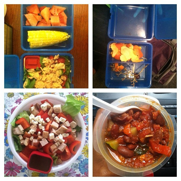 I did quick n dirty lunches this week. Yum! (Taken with Instagram at Work)