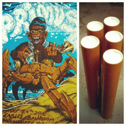 Shipping another batch of #Primus #Silkscreened #Posters . Still some available on my #Bigcartel store.  (Taken with Instagram)