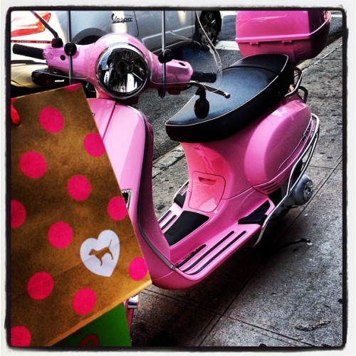 If only I had a cutie pink Vespa like this one when I need to run errands in the city… #nyc #oneday (Taken with Instagram)