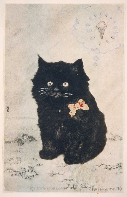 "jeffdtaylor:  Joe Brainard, ""Cat and Cone"", 1976 Thank you, Jennette. You've shown me something amazing. (via The Metropolitan Museum of Art - Cat and Cone)"