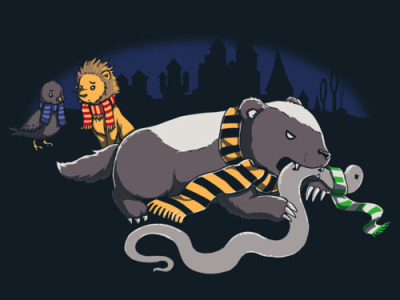fuckyeahhufflepuff:  timeferret:  Slytherin!  HufflePuff Don't Give A F*ck.  We'd only do that to a Slytherin if they insulted our house though ;D  Honey, Badger don't give a shit :3