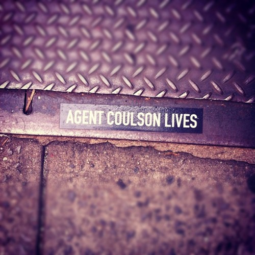 HELL YEAH HE DOES. #ineedthissticker #coulson4lyfe (Taken with Instagram)