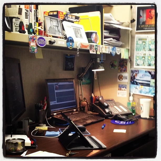 My work space (Taken with Instagram)