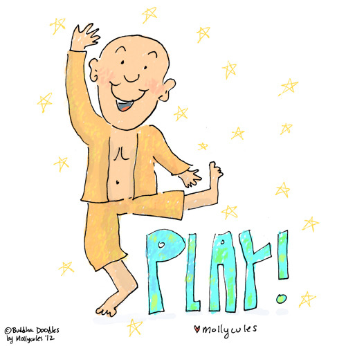 Today's Buddha Doodle - 'Play' Back from an amazing trip to Zion!