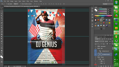 finishing up a promo flyer for @iamthegenius s/o to  @Ahshanti for the plug.