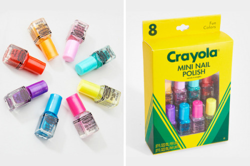 beautylish:  Who says you have to grow up? Relive childhood with some Crayola Nail Polish!