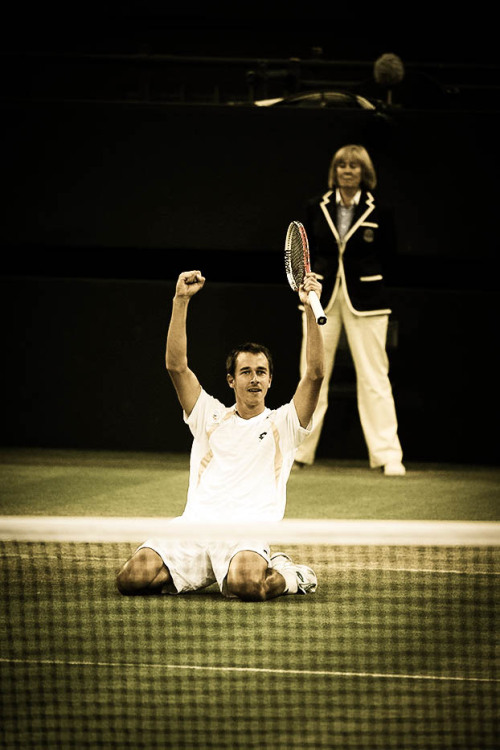 "22-tennis:  Lukas Rosol:   ""I didn't feel pain. I didn't feel anything. I was in a trance a little bit. That's best. I had my adrenaline so high, so I was playing good."""
