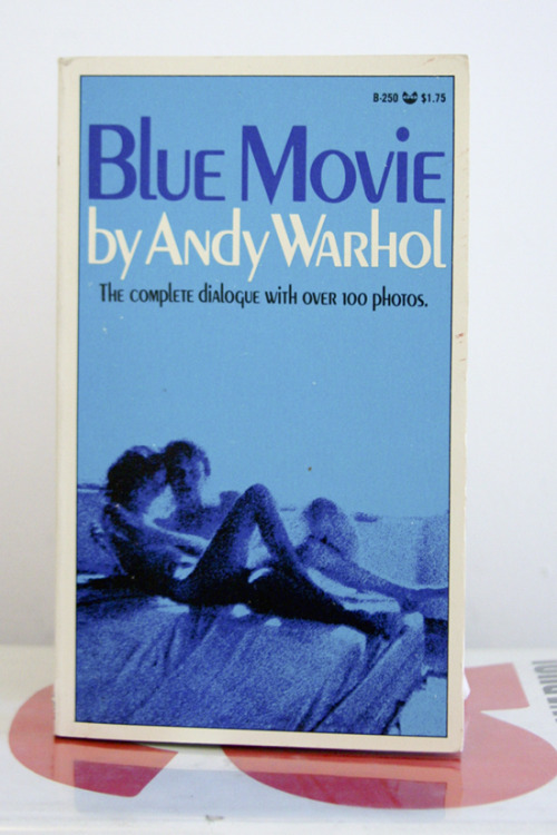 "Andy Warhol, Blue Movie ""Did I show you my new blow technique?""  The complete dialogue with over 100 photos First printing Grove Press, Inc., New York, 1970 4.25 x 7 inches (10.8 x 17.8 cm) $150 Purchase"