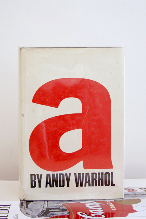 "Andy Warhol, a: A Novel By Andy Warhol  ""Strawberries and cream are terribly gay.""  First Edition, Hardcover Grove Press, Inc., New York 1968 6.5 x 9 inches (16.5 x 22.9 cm) $500 Purchase"