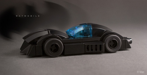 kockamaniahu:  Batmobile Noir (by _Tiler)