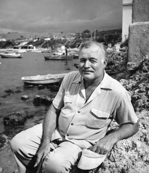 life:  July 2, 1961: Ernest Hemingway dies. Incredibly, one of Hemingway's most highly regarded novels, the short masterpiece, The Old Man and the Sea, was first published, in its entirety, in a single issue of LIFE magazine in September 1952. LIFE's Alfred Eisensstaedt went to Cuba to photograph Hemingway for the September 1952 issue, he encountered not a gracious (if perhaps prickly) fellow artist and man of letters, but a thoroughly disagreeable, paranoid, gin-sodden lunatic. See the photos here.  What is your favorite Ernest Hemingway novel or short story?