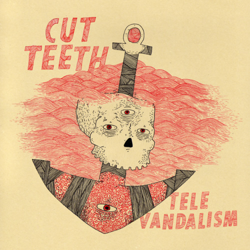 "bensears:  Cut Teeth - Televandalism 12"" cover art. I'm really happy with the way it turned out, and I'm glad I was able to work with them. Order it here.  http://www.freebensears.comhttp://www.freebensears.comhttp://www.freebensears.comhttp://www.freebensears.com"