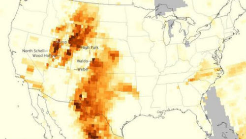 Air pollution from wildfires mapped by NASAThe instrument on the satellite measures aerosols by analyzing the amount of light scattered and reflected by the atmosphere.