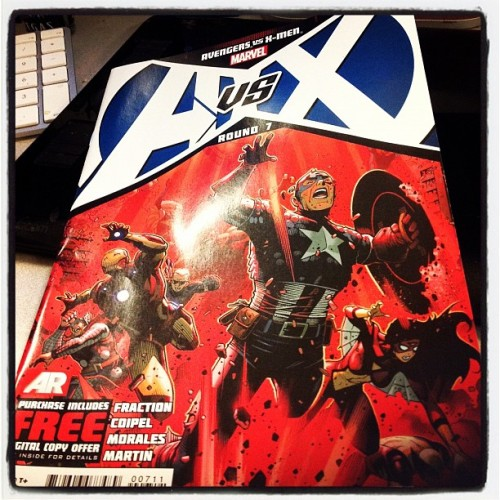 Why yes, I will read #Avengers Vs. #XMen #7 right now. #AvX #comics get your copy on July 4. (Taken with Instagram)