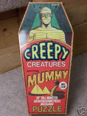 Creepy Creatures Mummy Jigsaw Puzzle (1970s)