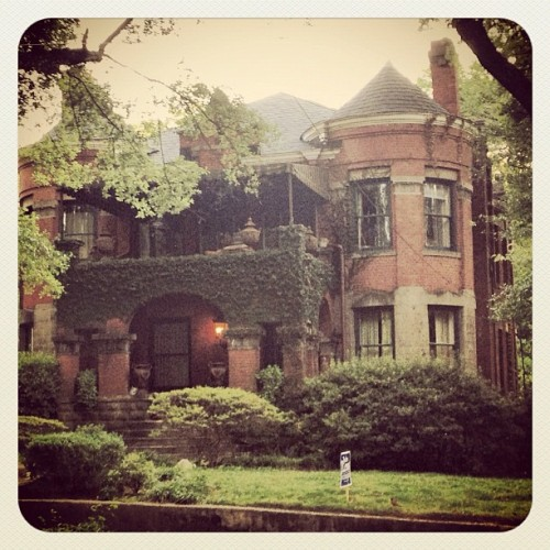 I will never tire of the moody beauty that is this house on Hurt Street in Inman Park. (Taken with Instagram)