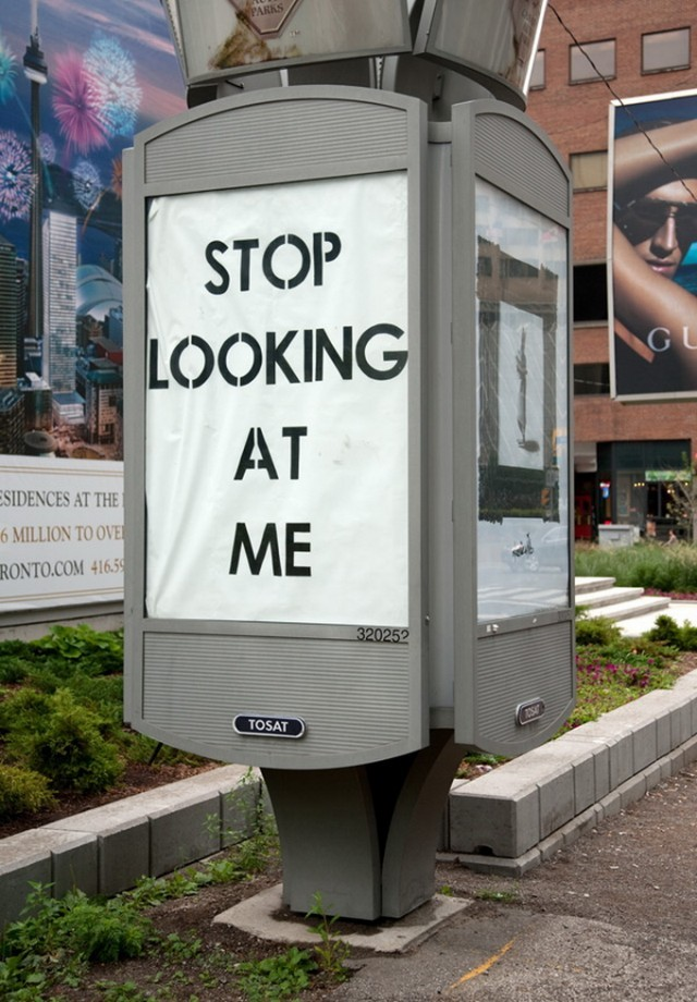 jaymug:  Mobstr Street Art - Stop looking at me