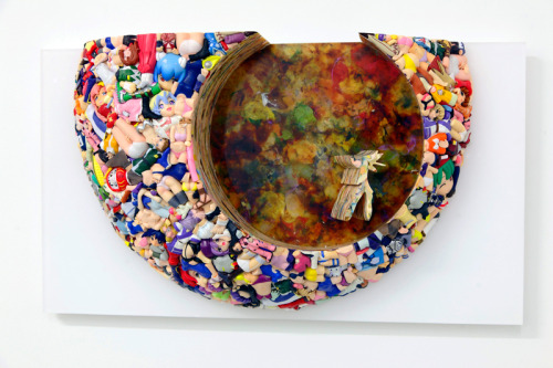 Sculptures made from plastic anime toys by Japanese art collective Three Studio. Follow them on Tumblr
