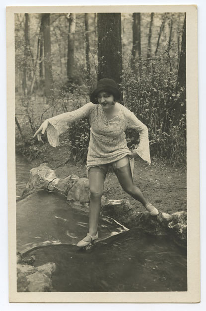 maudelynn:  Frolicking in the Forest 1920s postcard