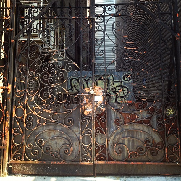 Ornate gate - St. Nich btwn 124th & 125th (Taken with Instagram)