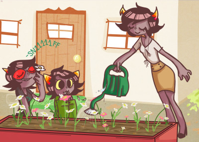 jelliebellies:  nepeta stop eating flowers das gross  No nepeta don't let the haters keep you down YOU EAT THOSE FLOWERS