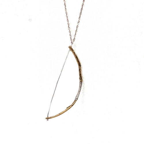 Bow Necklace @digbyandiona, 31% off now featured on Fab. — to channel your inner Katniss Everdeen.
