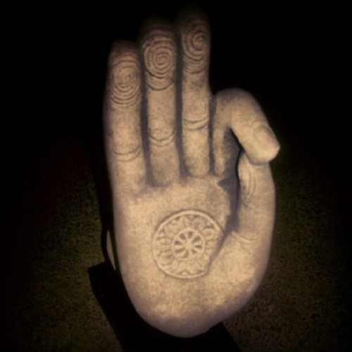 Mudra hand #satnam #namaste #meditate #sculpture #peace #photoadayjune  (Taken with Instagram)