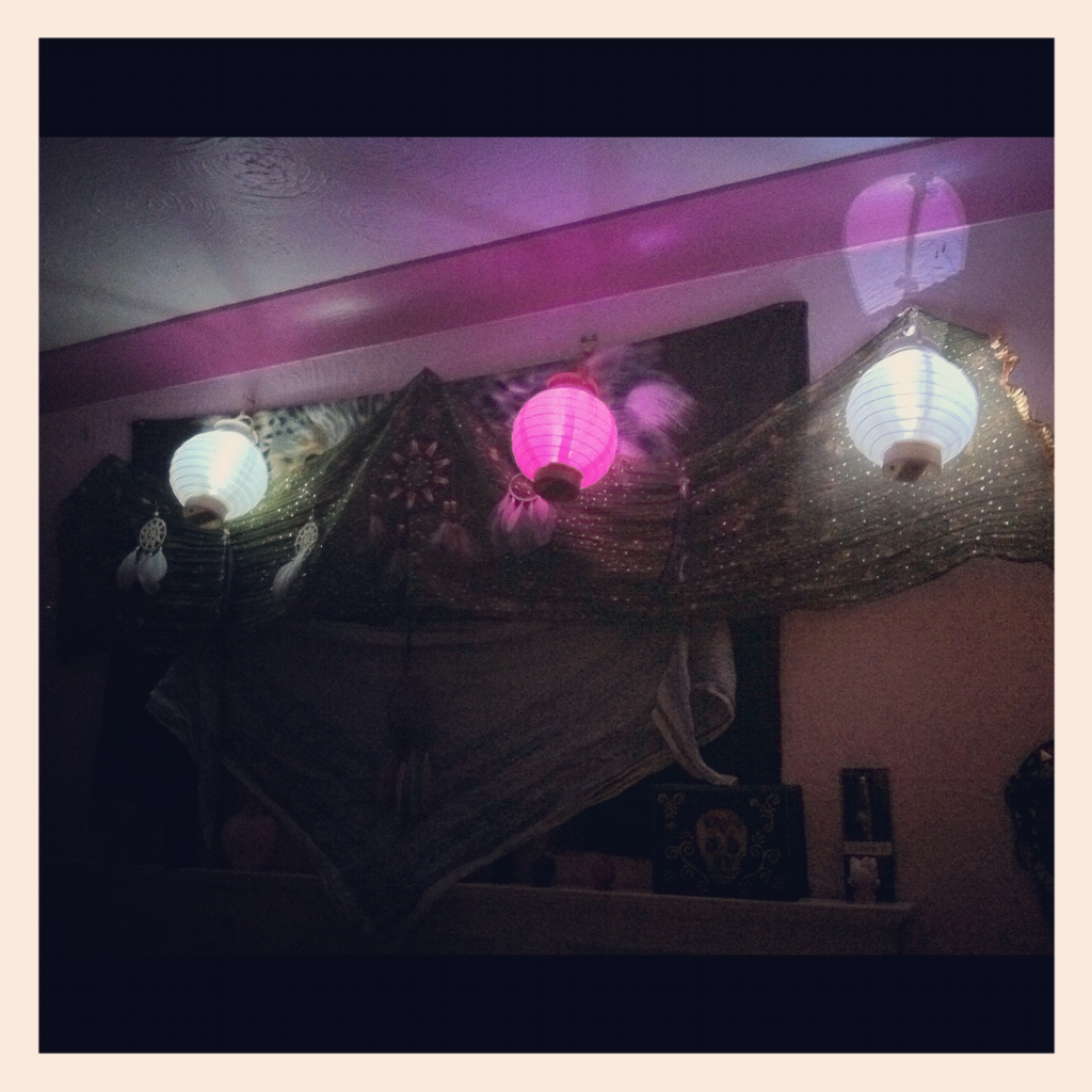 Lanterns above my bed