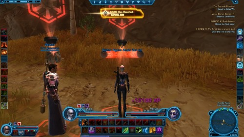 Woohoo! Hit 50 with my second character (my agent) while on Voss :) Now to finish chapter 3 and get to Ilum :) - K