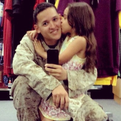 My niece and my brother. #USMC #Marines #Devildog #family #niece #love #military (Taken with Instagram)