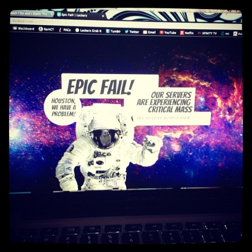 Haha love it #lockerz #epicfail  (Taken with Instagram)