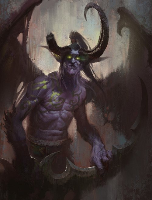 otlgaming:  ILLIDAN by LINBO (via geeksngamers)