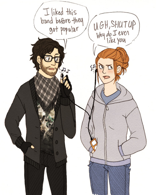 lamamama:   OTP Meme - gothiktenkasen asked for: Hipster Game of Thrones  welp  Ermahgerd, Jon Snow you are wearing a Three Wolf Moon shirt. I can't.
