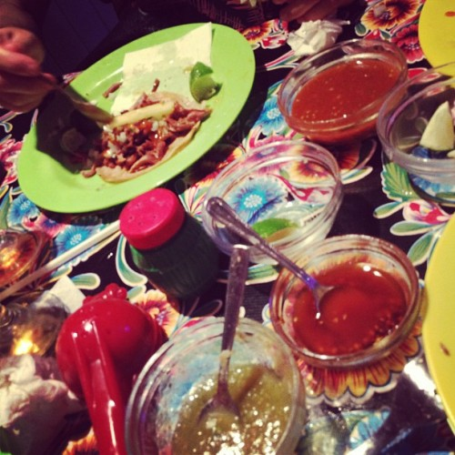 #tacos , lo que queda… (Taken with Instagram at La Taqueria)