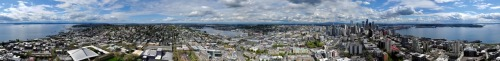 click that hi-res!Panoramic photo of Seattle from the Space Needle - Armin Hornung