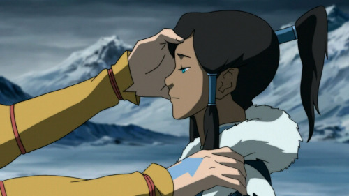 "element-of-change:  korra-scenery:  Korra's Spirituality: Avatar Aang's Guidance Location: Cliff, Southern Water Tribe, The South Pole I loved this part. Book One: Air of The Legend of Korra began featuring this beautiful, confident young Avatar, effortlessly fulfilling her role as an Avatar in training. There was this instant implication of precocity and ease in Korra's life. She was prideful and powerful. I see the series of events presented this season as the first instance of conflict and struggle in her life. She can't Airbend: her inability to do so and her constant failure in overcoming her spiritual block resounds the entire season. She is repeatedly thwarted by her opponents and rivals; she fails in her first romantic endeavors. And here she really is at her lowest point. I think a lot of people might misunderstand Korra's feelings here. She desperately wants to feel normal, to relish in her little victories with Mako and unlocking her Airbending, but it is all overshadowed. She may have won the war, but she lost the battle. She feels stripped of her potency and identity, what shaped her since the unripe age of seven, an identity and essence she gripped and held so tightly. It was everything for her. And yet in losing it, in experiencing this utmost sense of loss and despair, she breaks down and comes closer than ever before to the true purpose her possession of The Avatar Spirit is really meant to serve. She accesses her untapped, untouched, locked, and hidden spiritual reserve, that which was perpetually buried and unapparent to her because of her nature and attitude as an intensely physical and temporal individual. She calls Aang to her. She solicits assistance from the very last hope, an improbable and unlikely savior. I can just imagine how many times Korra called upon Aang in her times of need this season, hoping against all hope that he'd just appear, possess her, or that he'd come and unlock the Avatar State for her and permit the use of the safety net, the security mechanism to which all other Avatars had emergency access. And now, finally, Korra is answered. All that she was is broken. She retains not a single vestige of her former self, her former pretension and hubris. She is humbled and desperate, and finally answered. Thus, I credit Korra in this restoration of her bending, just as much as I credit Aang. I see Aang as this leader of Avatars, this paragon, initiator of this Avatar Spiritual Renaissance. He rediscovered Energybending, and here he gifts the ability to Korra. It is a direct transmission, and Korra, with all her shields lowered, is the perfect candidate for acceptance and enlightenment. This was as much Korra's victory as it was her salvation by Aang's assistance. So many fans are jaded in the ""message"" of these last moments. However, Korra's bitterness, rejection of Mako, and complete lack of self-worth don't imply that without your bending you are worthless. I should hope Lin's beautiful sacrifice would've taught us exactly the opposite: that there are many things more important than the possessions we hold most greedily. It's about love and honor, yet in the moments before Korra's call for help she is incapable of accepting love or feeling worthwhile because she has lost herself. She has fallen into nothingness and uncertainty, the kind of uncertainty that provokes authentic self-discovery. She has been crushed, but that was what was necessary. The destruction of this former, hot-headed, pugnacious, and arrogant persona was an absolute requisite to her quest for Spiritual Enlightenment. She needed to detach herself from everything around her, and here, at her lowest point, when she was least herself, lost in a tumultuous sea of emotions, she comes to her knees, and from within calls to Aang, brings her quest to an end, and earns her own salvation.  I feel very strongly about these things here… This is sort of my letter to critics of the finale… I appreciate every read through immensely.  THIS. All of it. So well-written, this is exactly how I feel and I'm so happy that someone was able to write my feelings down so eloquently. Thank you <3"