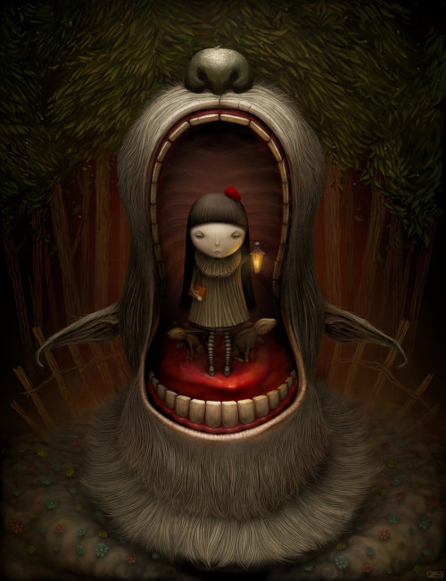 "the-mad-curator:  [ ""Red Riding Hood"", by: Anton Semenov. ]"