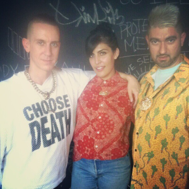 Meeting with @itsjeremyscott and @pabloolea its about to be on like donkey kong! Lol #melodyehsani  #jeremyscott (Taken with Instagram)