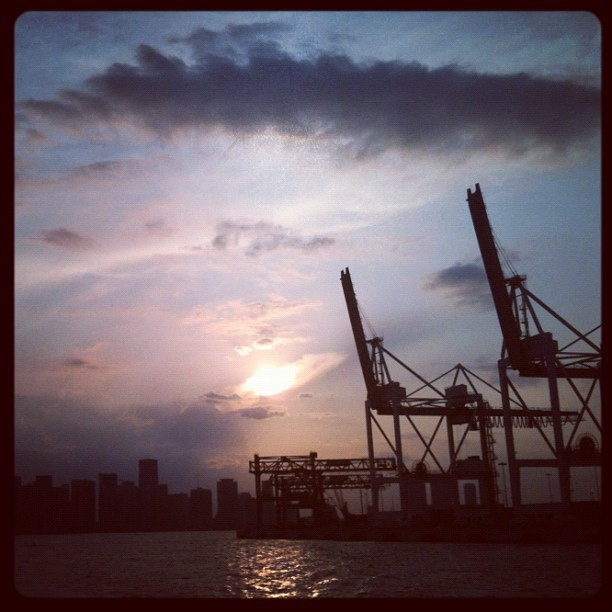 I'm on a boat (in Biscayne Bay) (Taken with Instagram)