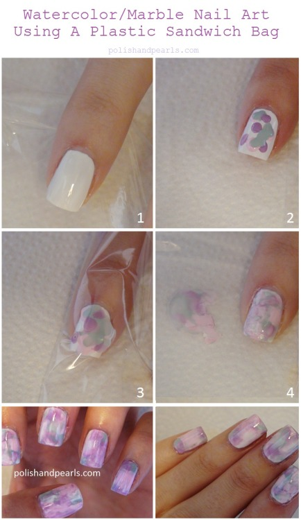 truebluemeandyou:  DIY Watercolor Nails Tutorial from Polish and Pearls here. Video Tutorial at link. *One image download  well isn't this mindblowing especially because every time I tried to water marble it WOULDN'T WORK