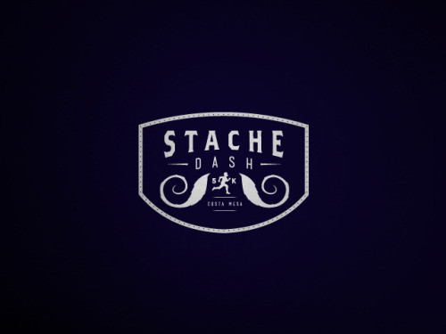 stache dash logo for upcoming 5K to benefit prostate cancer research.