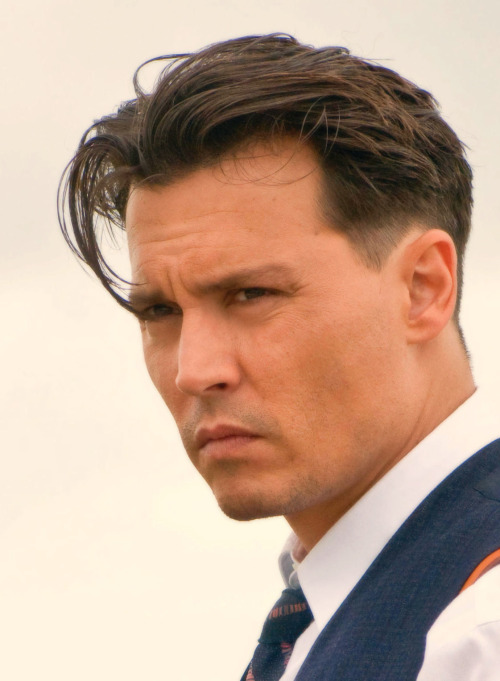 Johnny Depp as John Dillinger in Public Enemies.